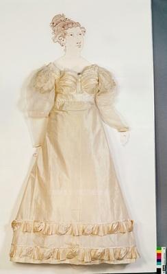 Wedding dress, 1821