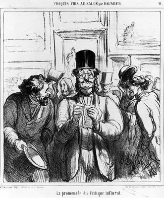 'The Promenade of the Influential Critic', cartoon from 'Charivari' magazine, 24 June, 1865