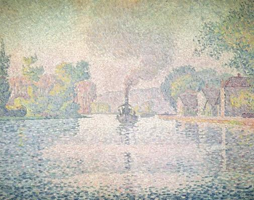 "The Seine at Sannois, the tugboat ""l'Hirondelle"", 1901"