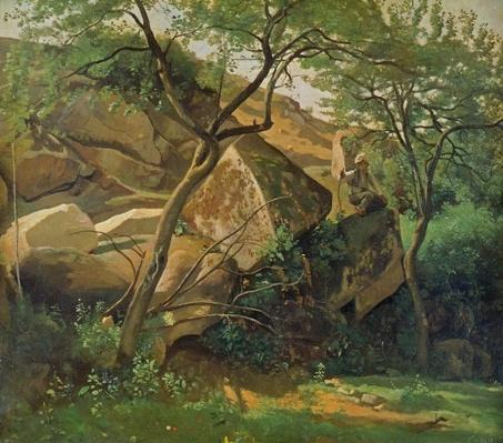 Rocks at Fontainebleau, 1842