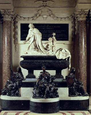 The tomb of Cardinal Jules Mazarin in the Chapel of the Institut de France, formerly the College des Quatre-Nations, 1689-93