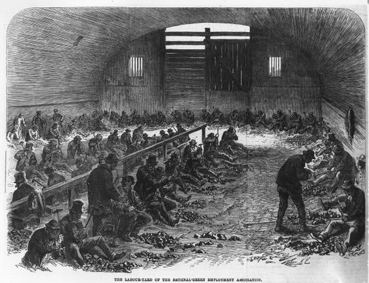 The Labour Yard of the Bethnal Green Employment Association, from 'The Illustrated London News', 1868