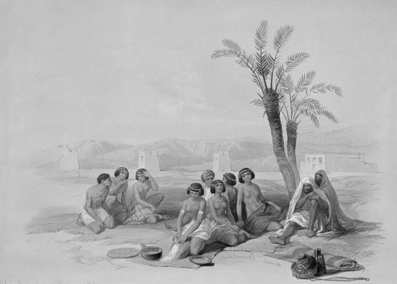 Abyssinian Slaves Resting at Korti, Nubia, 1847