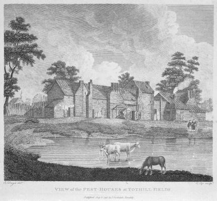 View of the Pest-Houses at Tothill Fields engraved by Charles Pye, 1796