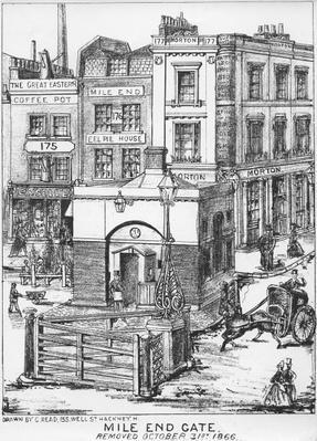 Mile End Gate, c.1866