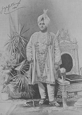 Jagatjit Singh of Kapurthala, 1891