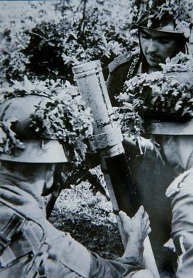 German mortar crew in the bocage