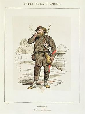 Characters of the Paris Commune - a Federe from Menilmontant-Charonne, 1871
