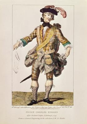 Satirical print in form of a 'Wanted Poster' for Prince Charles Edward Stuart, 1745