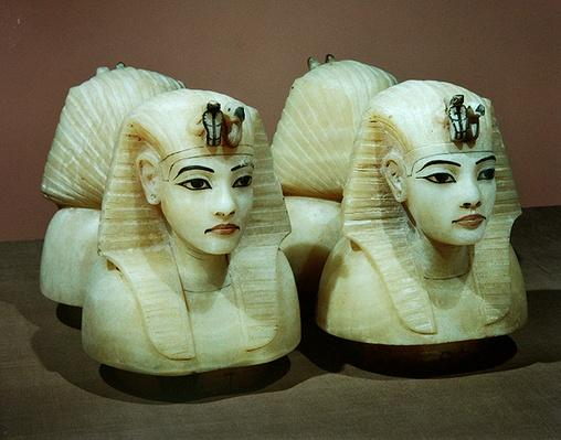 Canopic urns, from the tomb of Tutankhamun, New Kingdom
