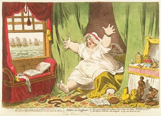 Dido in Despair, published by Hannah Humphrey, 1801