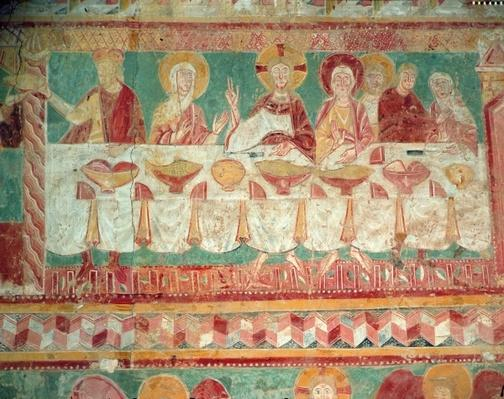 The Marriage at Cana, from the South wall of the Choir, 12th century