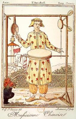 Chinese Musician, 1806