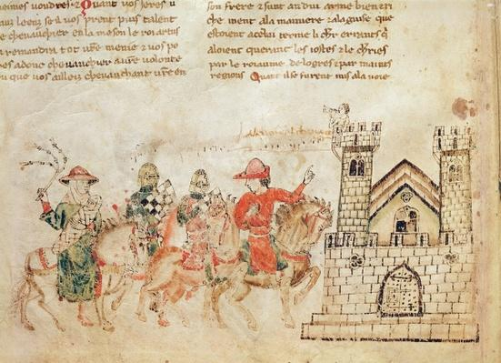 Arrival of Ambassadors to the Castle of King Arthur, from the Roman de Meliadus