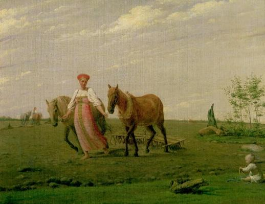 Ploughing in Spring, 1820s