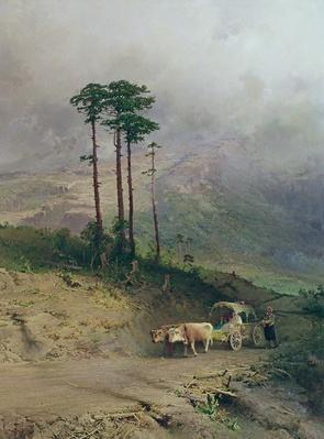 In the Crimean Mountains, 1873