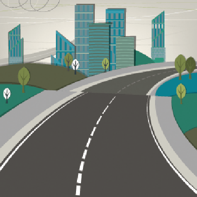 Cities - Road and Landscape | Clipart