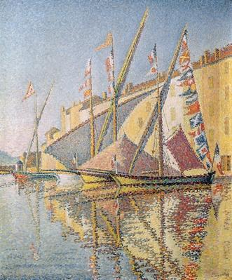 Sailing Boats in St. Tropez Harbour, 1893