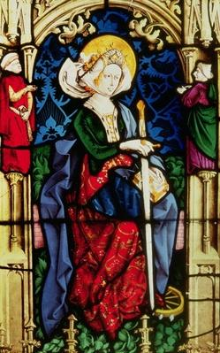 Window depiciting St. Catherine, from Partenheim, c.1440