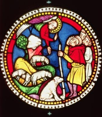 Window depicting The Annunciation to the Shepherds, c.1300