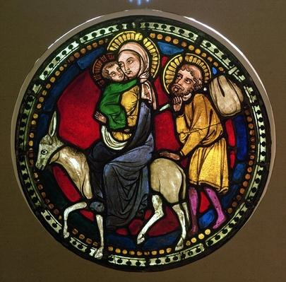 Window Depicting the Flight into Egypt, Late 13th Century