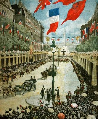 State Visit to Paris of King George V and Queen Mary in April, 1914, cover of 'Le Petit Journal', May 3, 1914