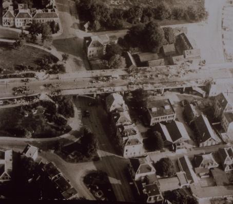Ramp of bridge at Arnhem littered with wrecked German vehicles, Battle of Arnhem, 1944