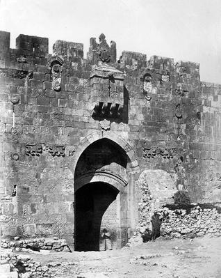 Lions' Gate, Jerusalem, 1857