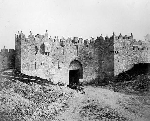Damascus Gate, Jerusalem, 1857