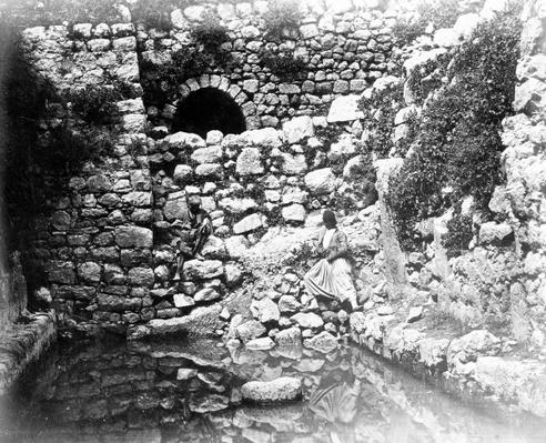Pool of Siloam, Jerusalem, 1857