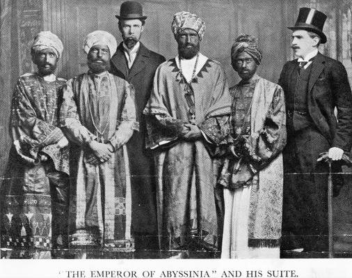 'The Emperor of Abyssinia and his Suite', The Dreadnought Hoax, 7th February 1910