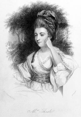 Hester Thrale, engraved by Samuel Freeman, 1842