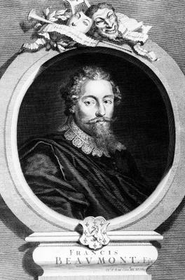 Francis Beaumont, engraved by George Vertue, 1729
