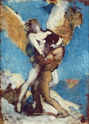 Jacob Wrestling with the Angel, c.1876