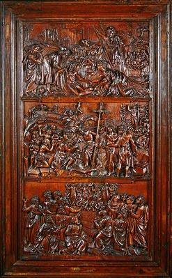 The Credo, Panel II: Decsent from the Cross, Entombment, Resurrection and Descent into Limbo and Ascension, 1587