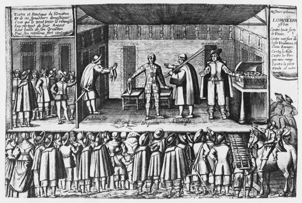 Farce on orvietan sellers at the Saint-Germain fair in Paris, c.1620-30