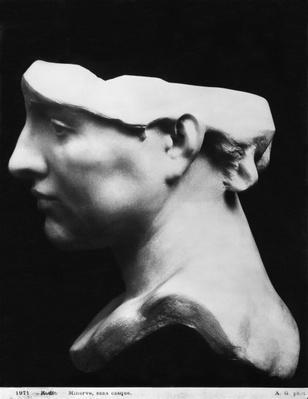 Minerva without helmet, 1896