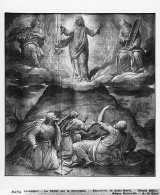 Life of Christ, Transfiguration of Christ on Mount Tabor, preparatory study of tapestry cartoon for the Church Saint-Merri in Paris, c.1585-90