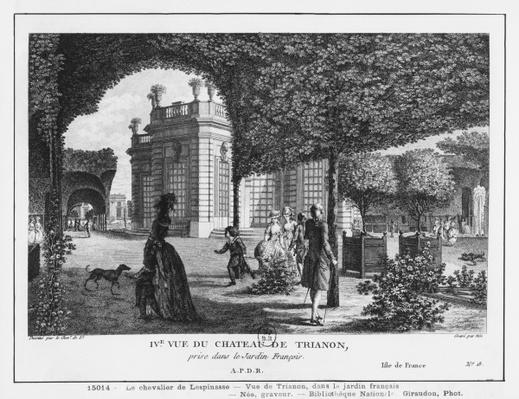 Fourth view of Trianon, taken in the French garden, engraved by Francois Denis Nee