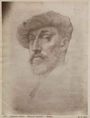 Clovis Delacoux, sculptor, 1899