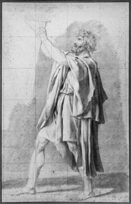 Father of the Horatii, study for 'The Oath of the Horatii', c.1785