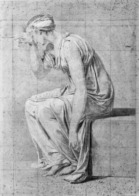 Camilla, study for 'The Oath of the Horatii', c.1785