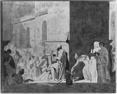 Homer reciting his poems, 1794