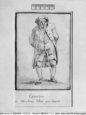 Caricature of Honore Gabriel Riqueti, Comte de Mirabeau
