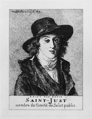 Louis Antoine Leon de Saint-Just, engraved by Frederic Desire Hillemacher