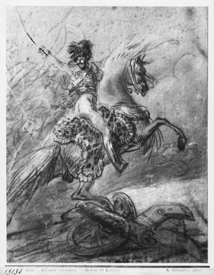 Officer of the Hussars on horseback