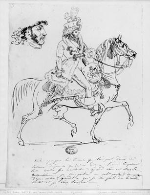 Equestrian portrait of Prince Joachim Murat