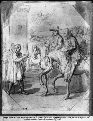 Louis XIV receiving the submission of a town