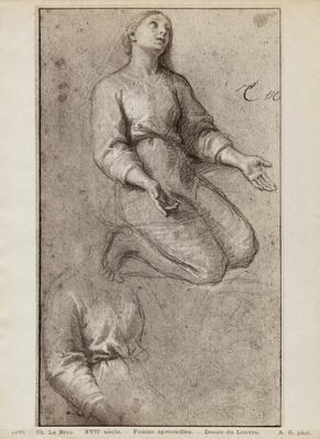 Kneeling woman, c.1685