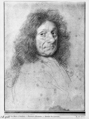 Portrait of a man, turned to the right